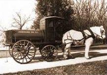 horse pulling oil cart